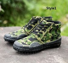 Outdoor Men Tactical Desert Camouflage Hiking Travel Rubber Canvas Boots Shoes