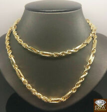 10K Yellow Gold Milano Rope Chain 6mm, Length Variation 22-30 Inches,Palm,Franco