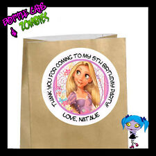 Rapunzel Tangled Birthday Party Favor Goody Bag STICKERS - Personalized Labels W