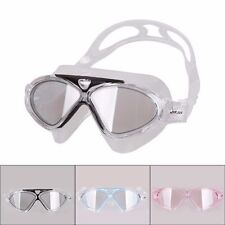 LARGE Swimming Goggles Anti-fog Swim Glasses Adjustable Adult Clear Silicone SG