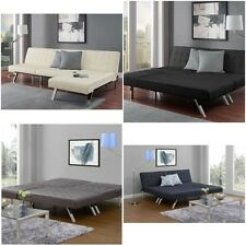 Convertible Futon  & Chaise Lounger sofa sleeper bed leather recliner chair NEW