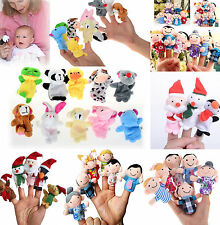 6/10Pc Finger Puppets Cloth Plush Doll Baby Educational Hand Cartoon Animal Toys
