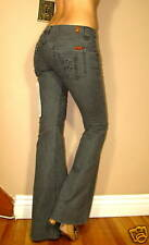 $158 Seven 7 For All Mankind Bell-Bottom Flare Jeans Charcoal Gray Off-Black 25