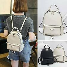 Women's Rucksack Daypack Faux Leather Small Backpack Cute bag Purse Travel New @