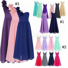 Pageant Flower Girls Dress Kids Birthday Wedding Bridesmaid Gown Formal Dresses