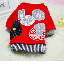 Dog Pet Hoodie Puppy Clothing Cat Costumes Spring Dog Vest  XS S M L XL XXL Size