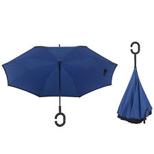 Creative Inverted Umbrella Double Layer Reverse Umbrella with C-shaped Hands