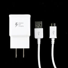 New Genuine Samsung Galaxy Adaptive Rapid Fast Home Charger 5' Micro USB Cable