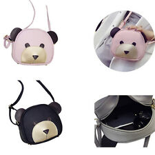 1Pcs PU Leather Girl's Handbags Women Shoulder Bag HOT Cute bear face