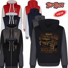 Hotrod 58 Junkyard Garage Vintage Rockabilly Retro Hoody Hoodie zipper Jacket 31