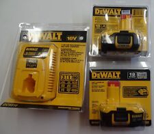 Two (2) DeWalt DC9182 18v XRP Lithium Ion Battery Packs & DC9310 Charger NEW
