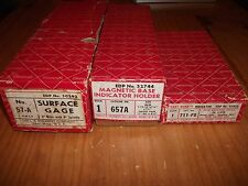 Nice Huge Lot of Starrett Items, #57A, #657A, #711FS With Original Boxes