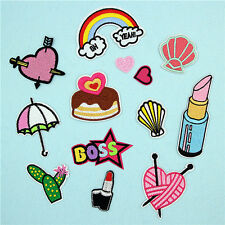 Embroidered Sew Iron On Patches Badge Bag Hat Fabric Applique Craft Dress Patch
