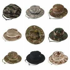 Camouflage Military Boonie Hat Tactical Ripstop Combat Caps Wide Brim Bucket Hat