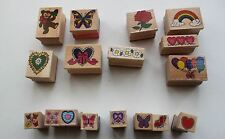 Craft rubber wood stamps flowers hearts Christmas  - You Choose!