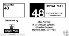 Royal Mail Laser Printed PPI Labels available in 24 & 48 with Return Address