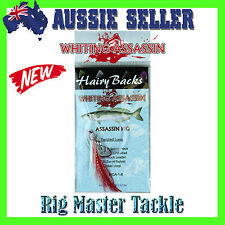 Pre-Made Whiting Hairy Backs Single Paternoster Assassin Rigs Colour:Blood Worm