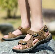 Mens Casual Outdoor leather walking hiking Summer Sandals comfortable New Hot YT