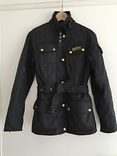 Barbour International Quilted jacket Ladies size 10 black great condition