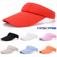 Adjustable Men Women Summer Sun Visor Cap Tennis Golf Sports Headband Cotton Hat