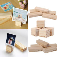 5 Pieces Wood Name Place Card Holders Wedding Reception Party Favors Table Decor