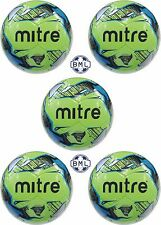 **30% discount**  3 x MITRE MISSION TRAINING FOOTBALLS - NEON GREEN