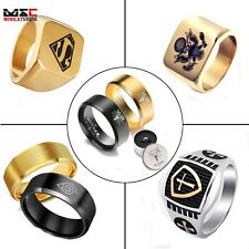 Men's Stainless Steel Silver Gold Fashion Gothic Punk Charm Finger Ring Jewelry