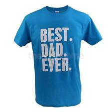 MagiDeal BEST DAD EVER Funny Fathers Day Birthday Dad Gift Cotton T Shirt