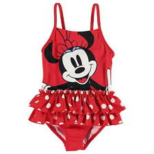 Girls Character Swimsuit Swimming Costume Disney Minnie Mouse New With Tags