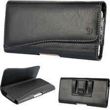 Leather Belt Clip Holster Pouch Carrying Case for iPhone 7 PLUS Samsung S8 Plus