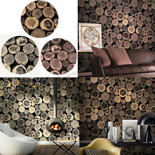 Textured Raw Wood Wallpaper PVC Wall Paper Roll For Background Indoor-wall Decro