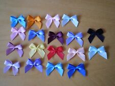 20x 20mm DOUBLE SIDED SATIN BOWS (6mm RIBBON)-CRAFTS-WEDDING-SEWING-CARDS-SCRAPB