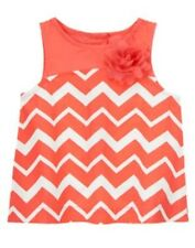 NWT Gymboree Chevrons and Dots Girls 12mo 18mo 24mo 2T Coral Chevron Top Shirt