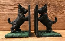 "Cast Iron Scottie Standing Bookends 6"" tall X 4 1/2"" wide Home Decor 0170S-04646"