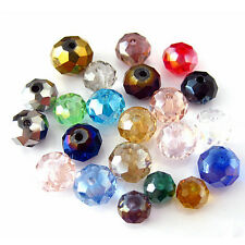 Wholesale Rondelle Faceted Crystal Glass Loose Spacer Beads 8mm/6mm/4mm