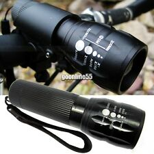 240 Lumen Zoomable Focus Flashlight Torch Q5 Cycling Bike Bicycle LED Front EA9