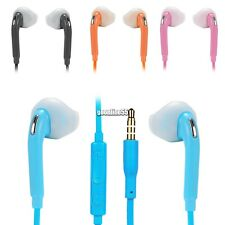 New 1PC Double Ear Earphone Phone Headset Headphone with Mic Earbud 3.5mm EA9