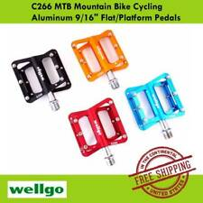 "Wellgo C266 Trekking MTB Mountain Bike Cycling Aluminum 9/16"" Pedals (6 Colors)"