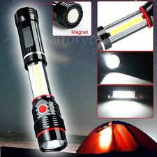 COB LED Magnetic Black Work Light Inspection Flashlight 300LM Camping Lamp Torch