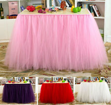 Tulle TUTU Table Skirt Tableware Cover Birthday Wedding Baby Shower Party Decor