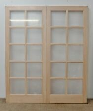 Hemlock 10 Light GTP SC External French Door Pair Wooden Timber Unglazed