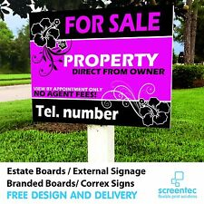 Personalised House FOR SALE / TO LET Estate Sign Boards x2 Private / Commercial