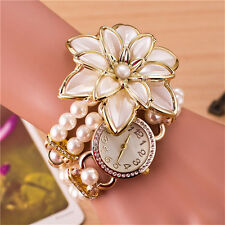 Wrist Watch Hot Sale Luxury Wrist Quartz Watches 1Pcs Ladies White Flower