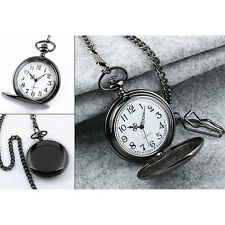 Blank Stainless Steel Case White Dial Arabic Numeral Pocket&Watch Chain/Gift Box