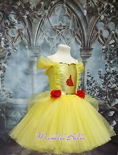 Princess Belle style tutu dress beauty and the beast party dress