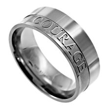 New Spirit And Truth Mens Stainless Steel Scripture Verse Ring Christian Ring