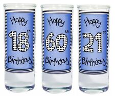 Happy Birthday Blue Shot Glass Gifts Ideas For Him Or Her Dad Mum Son Friends