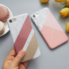 Bling Glitter Granite Marble Contrast Color PC Hard Cover Case for iPhone 6s 7