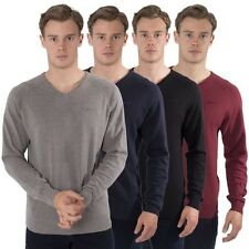Slazenger Mens Casual Knit Jumper V-Neck Long Sleeved Pull Over Sizes S - XXL