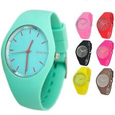 Womens Girls Soft Jelly Silicone Band Dial Quartz Analog Cute Sports Wrist Watch